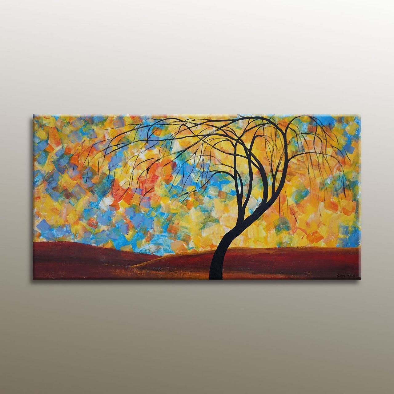 Oil Painting, Tree Art, Large Art, Painting Abstract, Original Painting, Abstract Canvas Art, Bedroom Art, Large Wall Art Canvas
