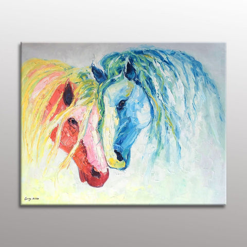 Original Painting, Horse Wall Art, Painting Abstract, Canvas Art, Modern Art, Living Room Wall Decoration, Large Canvas Art, Wall Hanging