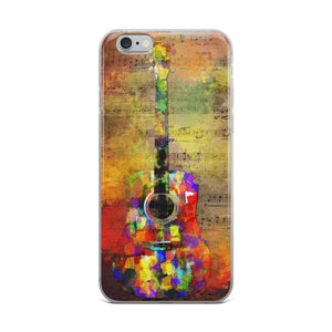 Guitar Music Watercolor iPhone 7 Case, iPhone 7 Plus Case, iPhone 8 Case, iPhone 8 Plus Case,  iPhone X Case, iPhone 6/6s, 6/6s Plus Case
