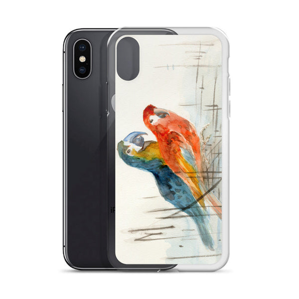 Parrots iPhone Case, iPhone 7/7 Plus Case, iPhone 8/8 Plus Case, iPhone 6 Case, iPhone 6s Case, iPhone 6s Plus Case, iPhone X Case