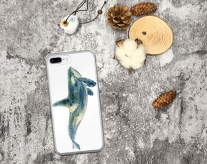 Blue Whale iPhone Case, iPhone 7/7 Plus Case, iPhone 8/8 Plus Case, iPhone 6 Case, iPhone 6s Case, iPhone 6s Plus Case, iPhone X Case