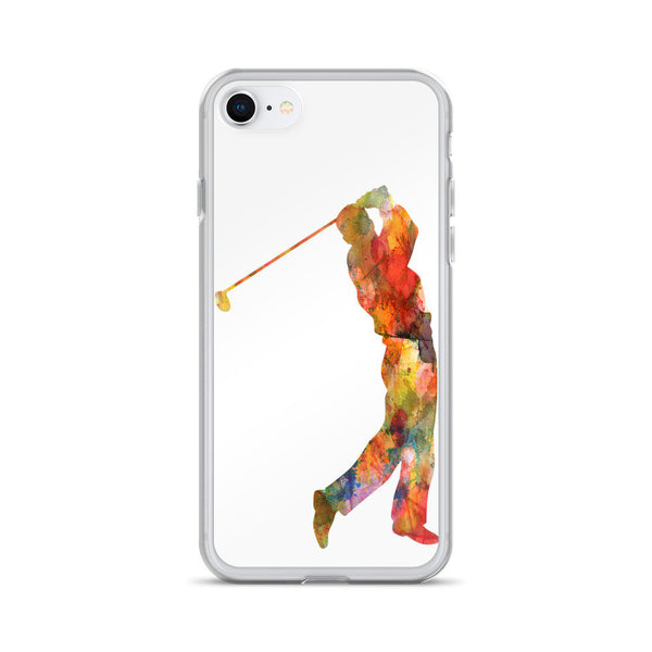 Golf Watercolor iPhone Case, iPhone 6 Case, iPhone 6s Case, iPhone 6s Plus Case, iPhone 7/7 Plus Case, iPhone 8/8 Plus Case, iPhone X Case