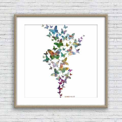 Butterflies Print, Watercolor Print, Wall Decor Bedroom, Abstract Art, Fine Art Prints, Artwork Original, Modern Art, Original Abstract Art