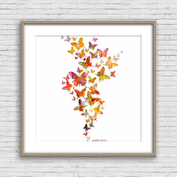 Print, Watercolor Print, Wall Decor Bedroom, Abstract Wall Art Prints, Art Print Watercolor, Modern Art, Butterflies Watercolor, Home Decor
