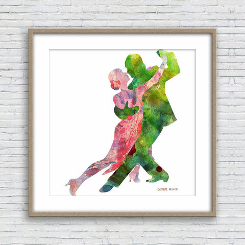 Tango Dancers Art, Print Wall Art, Watercolor Print, Wall Decor Dorm, Abstract Wall Art, Art Print Watercolor, Modern Wall Art, Original Art