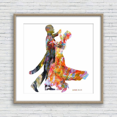 Tango Dance Painting Print, Dancers Watercolor Art, Wall Art, Abstract Watercolor Print, Art, Modern Art Painting, Original Art Watercolor