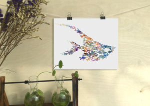 Art Print, Watercolor Print Fishes, Wall Decor, Abstract Art Print, Fine Art Prints, Artwork, Modern Art Painting, Original Art Painting