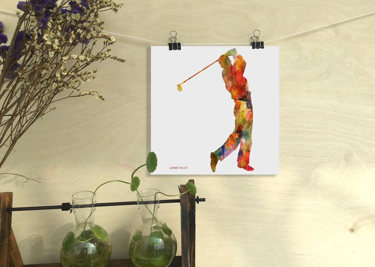 Watercolor Print, Golf, Wall Art, Abstract Print, Art Print Watercolor, Artwork, Modern Wall Art, Original Art Watercolor, Kitchen Art Print