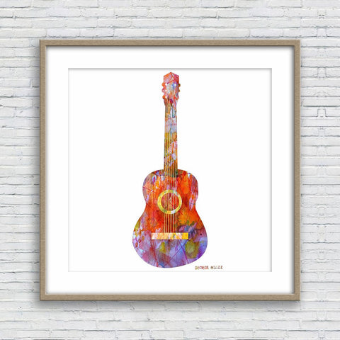 Guitar Print, Watercolor Abstract, Wall Art Prints, Abstract Print, Art Print Watercolor, Artwork And Prints, Modern Art Print, Music