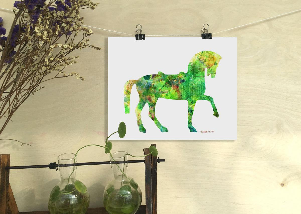 Print Art, Watercolor Print Horse, Wall Art, Abstract Print, Art Print, Modern Art Painting, Original Modern Art, Home Decor Rustic
