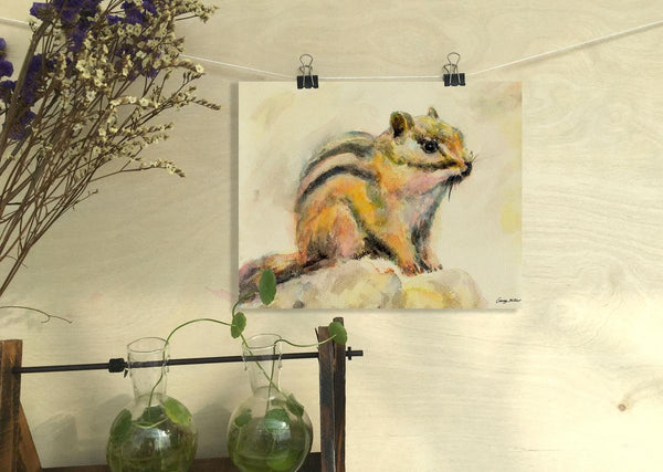 Squirrel Print Art, Watercolor Abstract, Wall Hanging, Abstract Watercolor Print, Art Print, Artwork, Modern Art, Kitchen Wall Decor