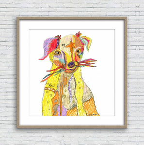 Dog Print, Watercolor Print, Wall Decor, Abstract Art Print, Art, Artwork Original, Modern Wall Decor, Original Art Watercolor, Graffiti Dog