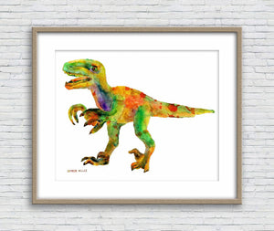 Tyrannosaurus Rex Watercolor Print, Print Art, Wall Art, Abstract Art Print, Fine Art Prints, Artwork Original, Modern Art, Dinosaur Print