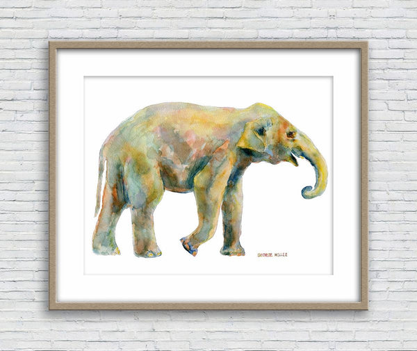 Watercolor Print, Little Elephant, Abstract Art Prints, Art Prints Watercolor, Artwork Original, Original Watercolor Art, Bedroom Wall Decor