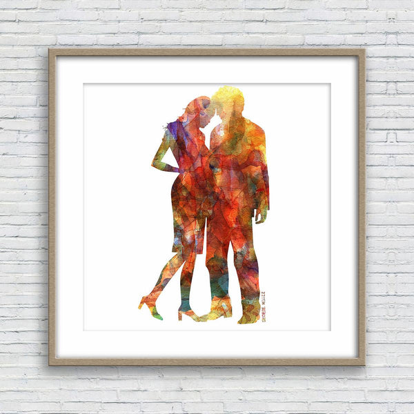 Prints Wall Art, Watercolor Painting Lovers, Wall Art, Abstract Art Print, Art, Artwork, Modern Art Painting, Original Art Prints,  Print