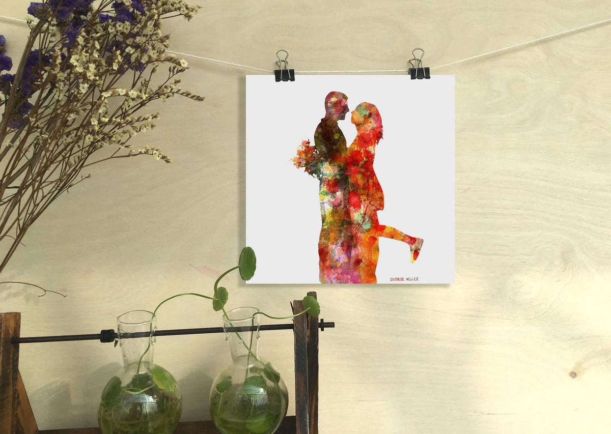 Lovers Print, Watercolor Print, Wall Decor Living Room, Abstract Wall Art Prints, Art Print, Modern Art Print, Original Art Watercolor
