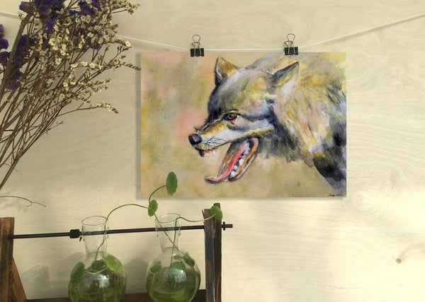 Wolf Print, Watercolor Print, Wall Art Abstract, Abstract Wall Art, Art Prints Watercolor, Artwork, Modern Wall Decor, Original Art Wildlife