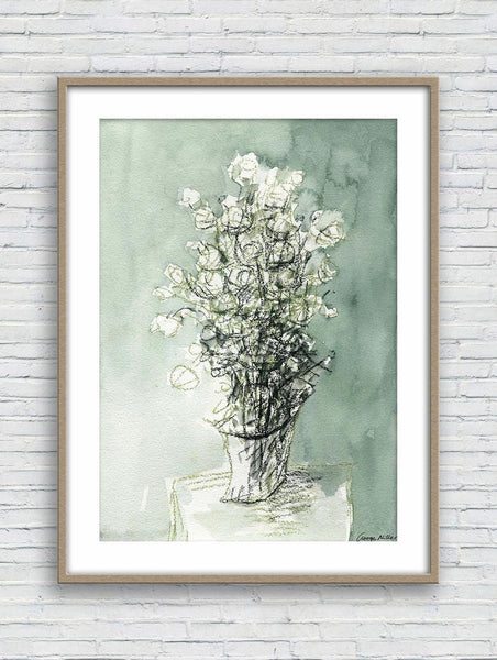 Watercolor Print Flowers, Wall Art Abstract, Abstract Watercolor Print, Art Print, Artwork, Modern Art Home Decor Wall Art, Botanical Prints