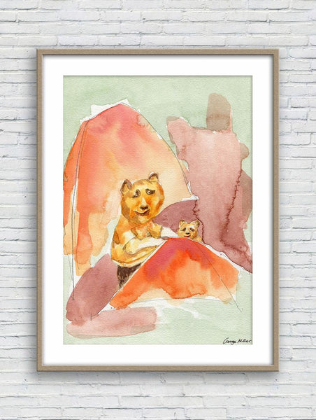 Print Wall Art, Watercolor Painting, Wall Art Prints, Abstract Art Prints, Art, Artwork, Modern Art, Original Art Prints Panda at the Picnic
