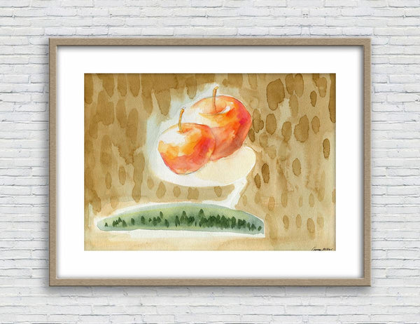 Print Wall Art, Watercolor Print, Fruit, Wall Prints Minimalist, Abstract Wall Art Prints, Art Print, Artwork Original, Modern Art