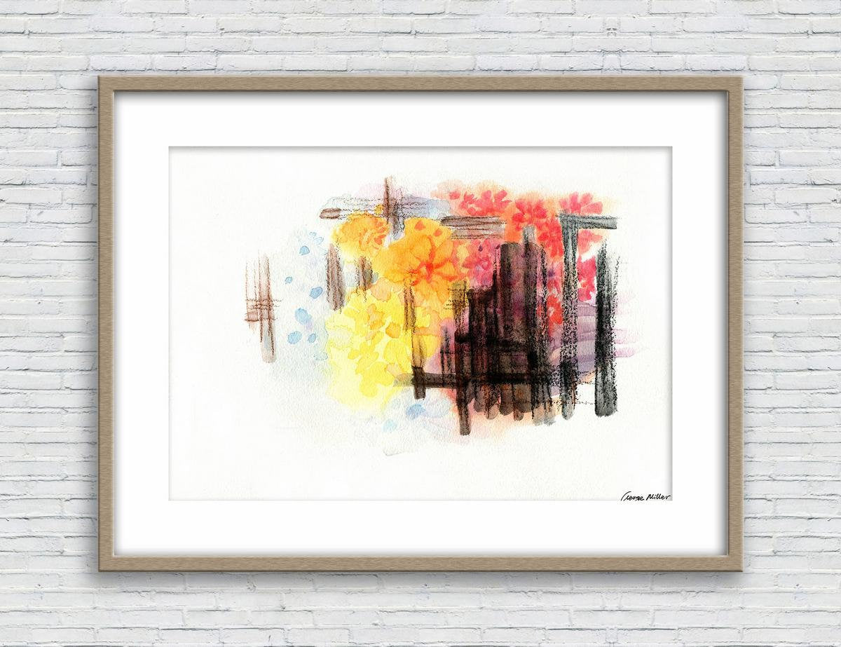 Flower Print, Watercolor Abstract, Wall Art, Abstract Print, Art Print, Artwork, Modern Wall Art, Original Art, Dorm Decor, Botanical Poster