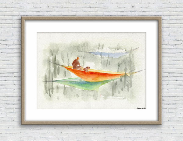 Print Art, Watercolor Print, Wall Decor Dorm, Abstract Artwork, Art Print Watercolor, Artwork, Modern Art Print, Original Art Prints, Picnic