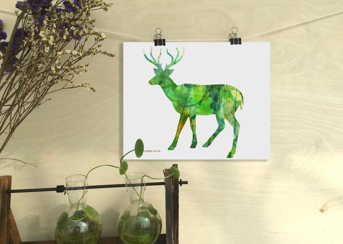 Deer Print Wall Art, Watercolor Print, Wall Decor Living Room, Abstract Print, Art Print Watercolor, Artwork, Modern Art Print, Original Art