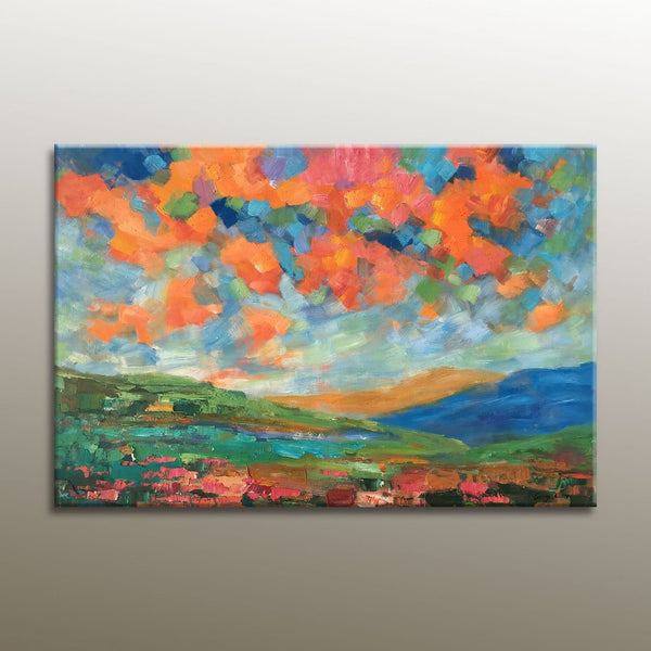 Landscape Painting, Large Oil Painting, Abstract Art, Original Abstract Art, Wall Art, Original Landscape Oil Paintings, Canvas Painting