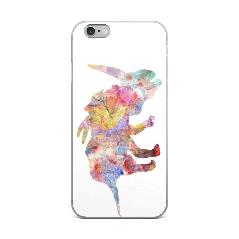 Dinosaur Watercolor iPhone 7 Case, iPhone 7 Plus Case, iPhone 8 Case, iPhone 8 Plus Case, iPhone 6/6s, 6/6s Plus Case, iPhone X Case