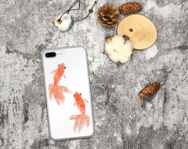 Goldfish iPhone Case, iPhone 7 Case, iPhone 7 Plus Case, iPhone 8 Case, iPhone 8 Plus Case, iPhone 6/6s, 6/6s Plus Case, iPhone X Case