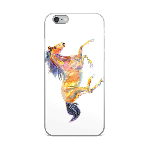 iPhone 8/8 Plus Case, iPhone 6 Case, iPhone 6s Case, iPhone 6s Plus Case, iPhone X Case, Watercolor Horse iPhone Case, iPhone 7/7 Plus Case