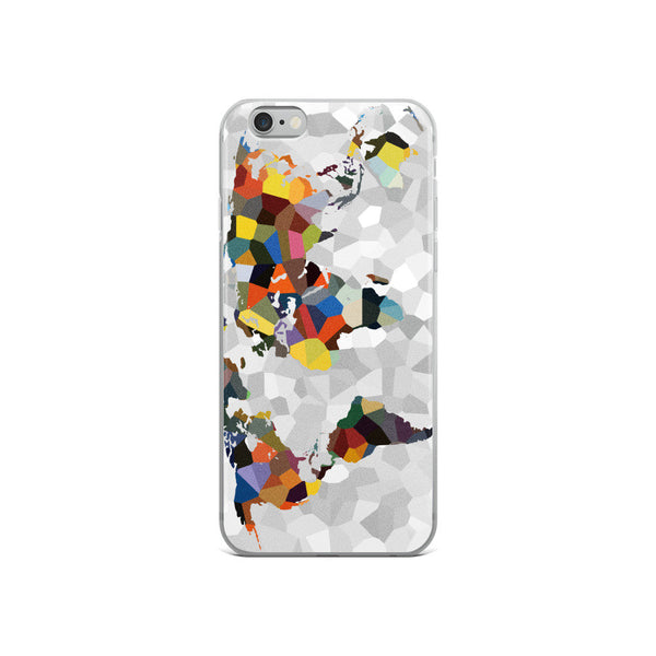 World Map iPhone Cases, iPhone 6 Case, iPhone 6s Case, iPhone 6s Plus Case, iPhone 7/7 Plus Case, iPhone 8/8 Plus Case, iPhone X Case