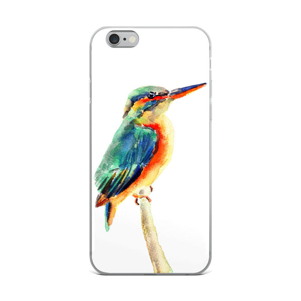 iPhone 8 Case, iPhone X Case, Kingfisher Watercolor iPhone Case, iPhone 6 Case, iPhone 6s Case, iPhone 6s Plus Case, iPhone 7/7 Plus Case
