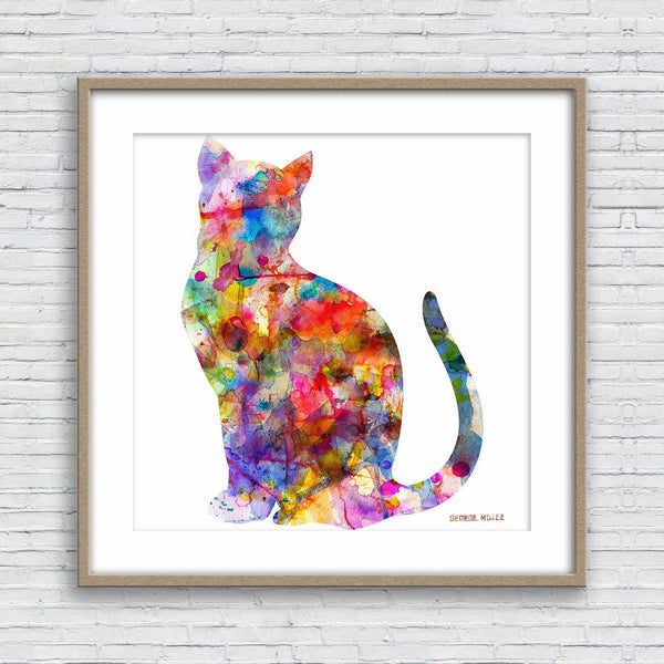 Cat Print, Watercolor Abstract, Wall Art Prints, Abstract Art Print, Art Print, Artwork Original, Modern Art Print, Original Art Watercolor