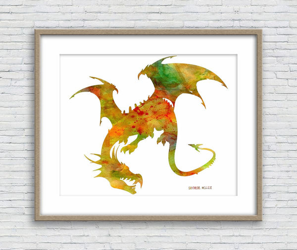 Dragon Print, Watercolor Print, Wall Art, Abstract Print, Art Print, Artwork Original, Modern Wall Art, Original Modern Art, Wall Art