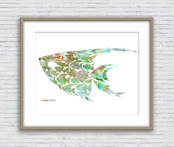 Fish Print, Watercolor Print, Wall Art Prints, Abstract Art, Art Print Watercolor, Artwork Original, Modern Wall Art, Original Modern Art