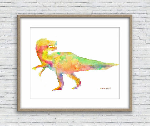 Tyrannosaurus Rex Print Wall Art, Watercolor Print, Dinosaur, Abstract Print, Art Prints Watercolor, Artwork Original, Modern Art Print