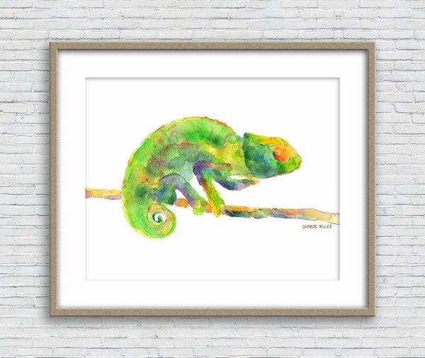 Print Art, Chameleon Watercolor Print, Wall Decor Dorm, Abstract Artwork, Art, Artwork, Modern Art Print, Original Modern Art, Large Art