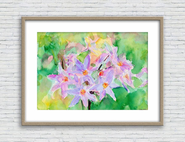 Print Art, Watercolor Print Flowers Wall Art Abstract, Abstract Wall Art Prints, Art, Artwork Original, Modern Art, Floral Painting Print