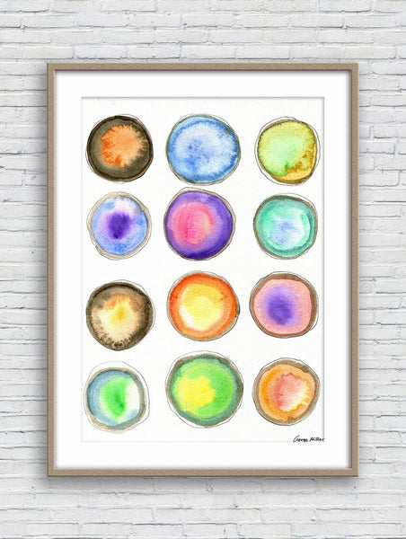 Abstract Watercolor Art, Wall Art, Abstract Wall Art, Art Print, Artwork, Modern Art Print, Original Art Abstract, Country Home Decor