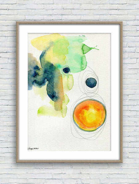 Abstract Watercolor Print, Wall Decor, Abstract Wall Art, Art Painting, Artwork Original, Modern Art, Original Art Painting, Kitchen Decor