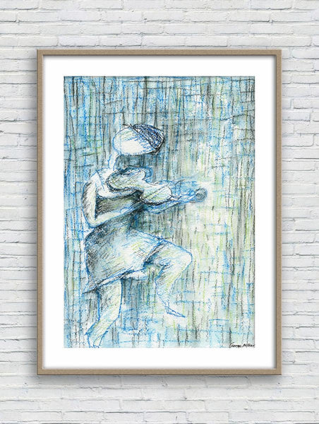 Prints Wall Art, Watercolor Art, Wall Art Prints, Abstract Wall Art, Art Prints, Artwork, Original Watercolor Art, Girl Playing Violin Music
