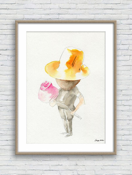 Print, Watercolor Print, Wall Art Abstract, Abstract Art Prints, Art Poster, Artwork Original, Modern Art, Original Painting, Gentleman