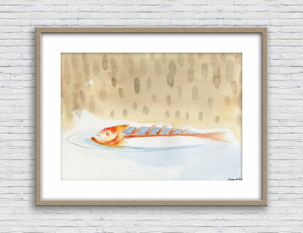 Fish Print, Watercolors, Wall Art Abstract, Abstract Wall Art, Art Print Watercolor, Artwork, Modern Art, Original Art Abstract