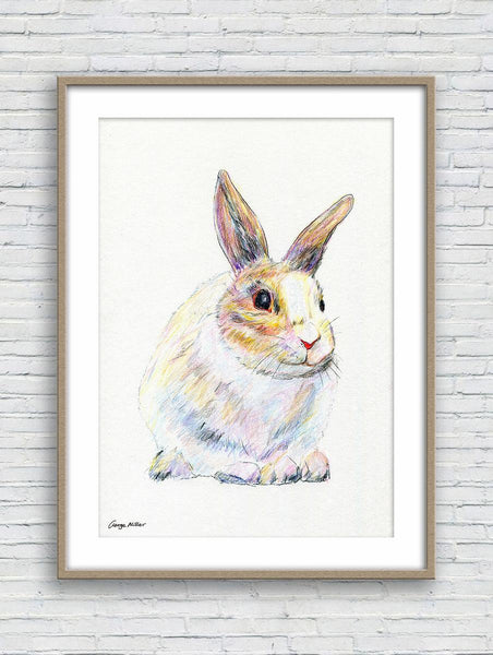 Rabbit  Prints Wall Art, Watercolor Art, Wall Art, Abstract Wall Art Prints, Art Prints Watercolor, Artwork Original, Modern Wall Decor