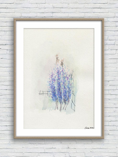 Watercolor Print, Wall Decor Living Room Rustic, Abstract Artwork, Art, Artwork Original, Modern Art Print, Spring Flowers, Botanical Print