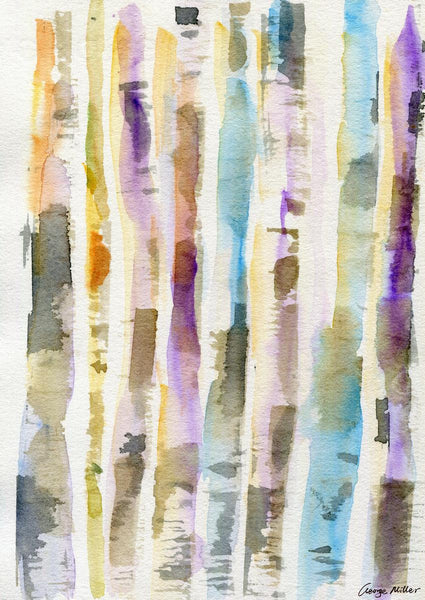 Watercolor Print Birch Forest, Wall Art Prints, Abstract Print, Art Print, Artwork Original, Modern Wall Art, Original Artwork, Home Decor