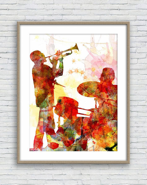 Prints Art Music Performance, Watercolor Print, Wall Decor Living Room Rustic, Abstract Landscape Painting, Art Prints Watercolor, Artwork