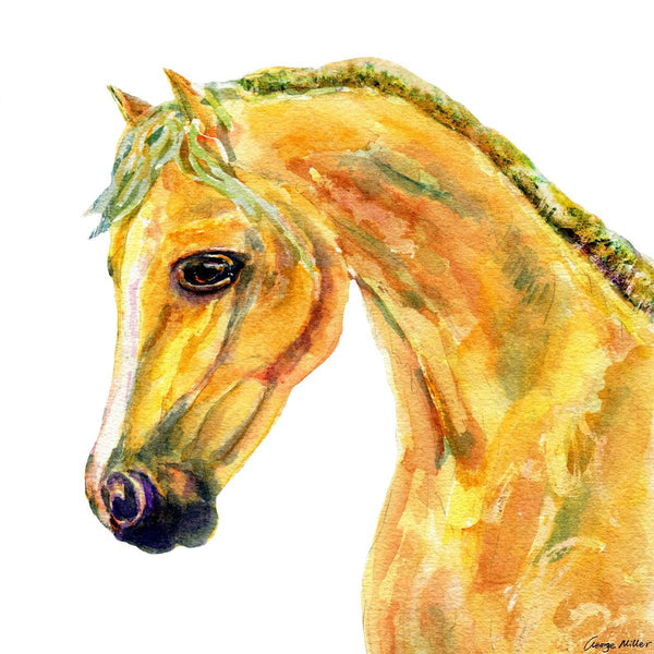 Horse Prints Art, Watercolor Abstract, Wall Art, Abstract Painting, Art Prints Watercolor, Artwork Original, Modern Art Print Square