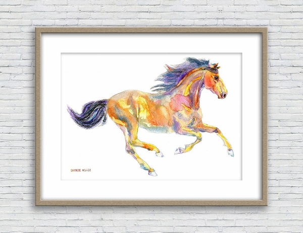 Horse Print, Watercolor Art, Wall Art, Abstract Wall Art Prints, Art Print Watercolor, Artwork Original, Modern Wall Art, Horse Watercolor